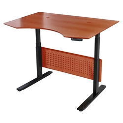 Sit-Stand 51x37 Modern Adjustable Cherry Desk
