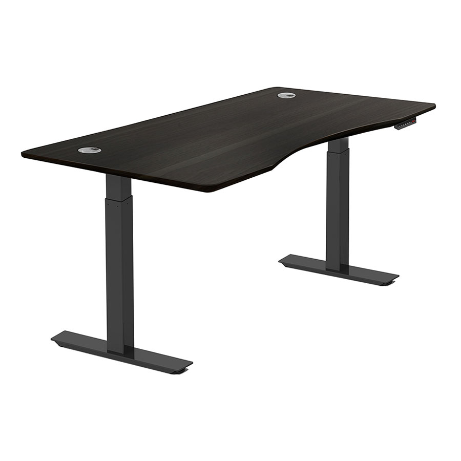 Call To Order Sit Stand Adjule 55x27 Modern Desk In Espresso