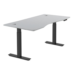Sit-Stand Adjustable 55x27 Modern Desk in White