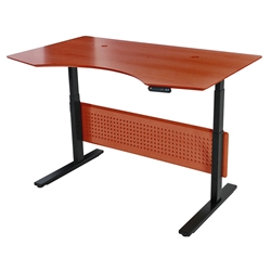 Sit-Stand 63x39 Modern Adjustable Cherry Desk