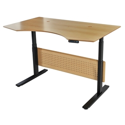 Sit-Stand 63x39 Modern Adjustable Maple Desk