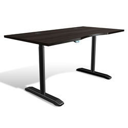 Sit-Stand Adjustable 65x32 Modern Desk in Espresso
