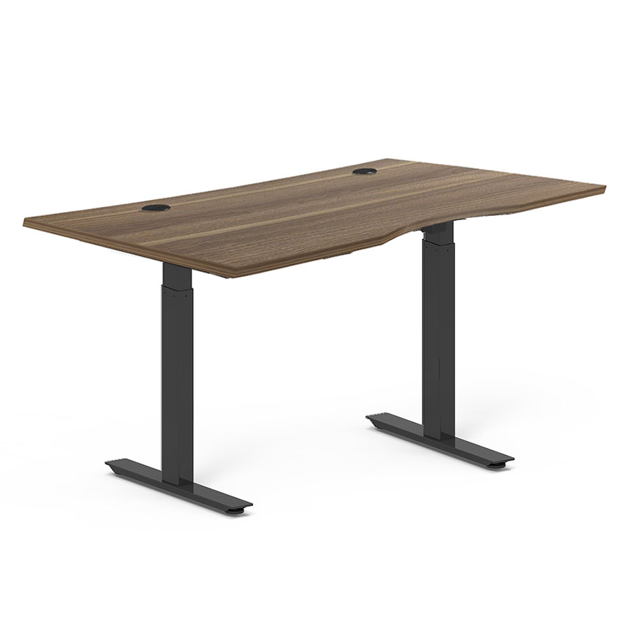 Call To Order Sit Stand Adjule 65x32 Modern Desk In Walnut