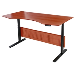 Sit-Stand 75x41 Modern Adjustable Cherry Desk