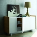 Skin White Lacquered Honeycomb Panels + Oak Veneers Modern Sideboard by TemaHome - Lifestyle