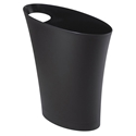 Modern Black Skinny Waste Can