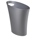 Modern Silver Skinny Waste Can by Umbra