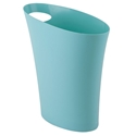 Modern Surf Blue Skinny Waste Can by Umbra