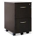 Skye Modern Espresso 2 Drawer Mobile File Cabinet