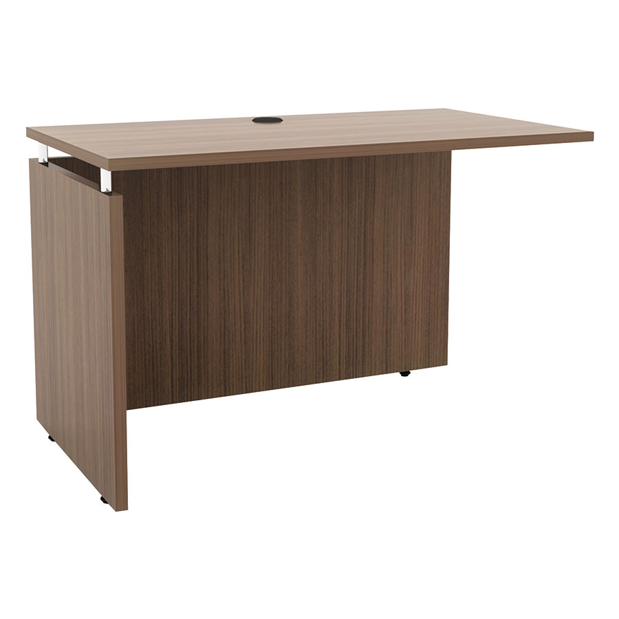 Skye Modern 48 Inch Return/Bridge in Walnut