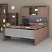 Skye Walnut Contemporary Office Group