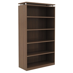 Skye Modern Walnut Tall Bookcase