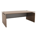 Skye Modern Bow Front Desk in Walnut