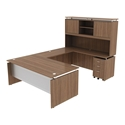 Skye Modern Walnut Executive Desk Set