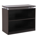 Skye Modern Espresso Low Bookcase