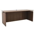 Skye Modern 66x24 Narrow Desk in Walnut