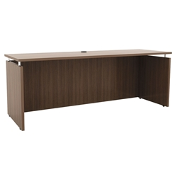 Skye Modern 72x24 Narrow Desk in Walnut