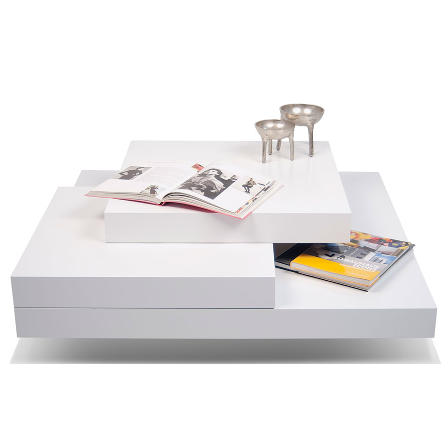 Slate White Modern Coffee Table By Temahome Eurway