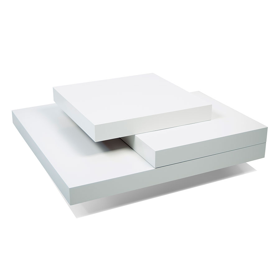 Slate white modern coffee table by temahome eurway for White designer coffee table