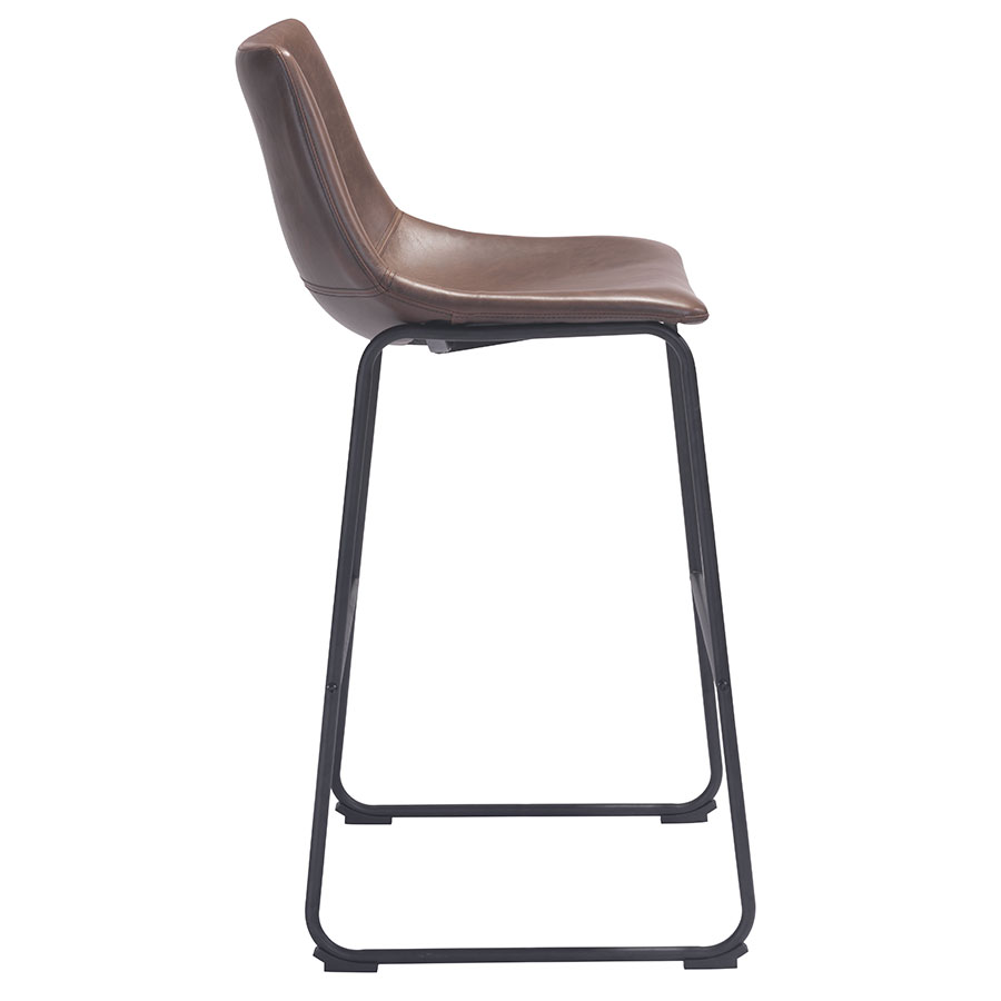 Slater Modern Leatherette Bar Stool - Side View
