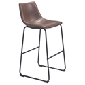 Slater Modern Leatherette Bar Stool