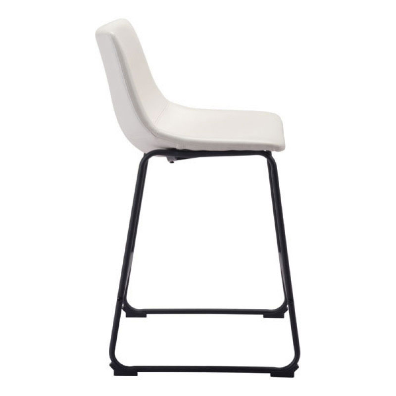 Slater Modern White Leatherette Counter Stool Eurway : slater counter stool distressed white side from www.eurway.com size 800 x 800 jpeg 23kB