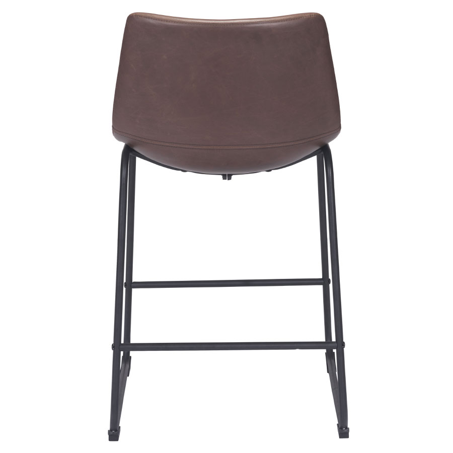 slater modern leatherette counter stool  eurway modern -  slater modern counter stool  back view