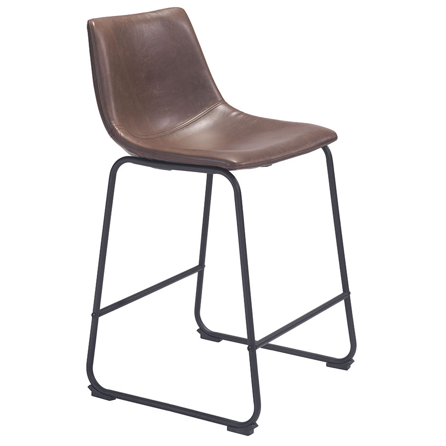 slater modern leatherette counter stool  eurway modern - slater modern counter stool