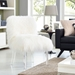 Snyder Contemporary White Sheepskin Accent Chair