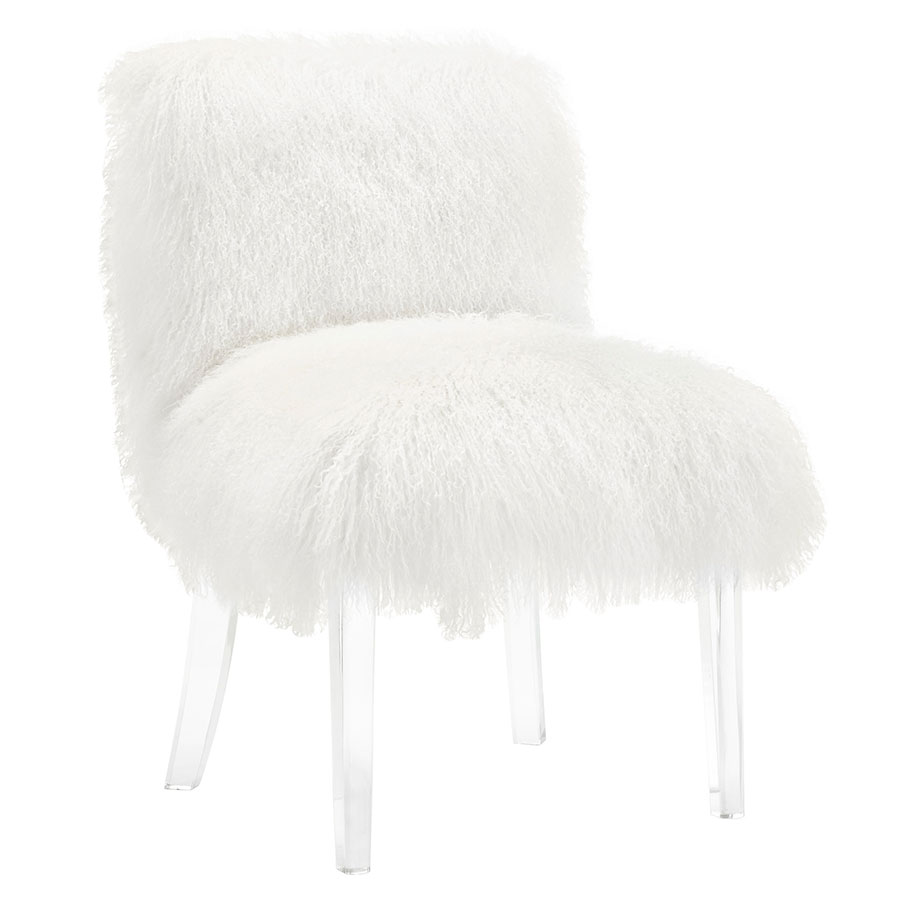 Snyder Modern Sheepskin Accent Chair