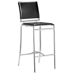 Soar Modern Black Bar Stool by Zuo