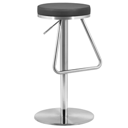 Soda Modern Black Adjustable Bar + Counter Stool