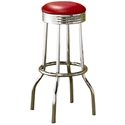 Soda Fountain Retro Red Bar Stool