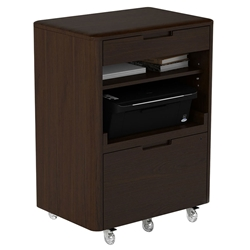 BDI Sola Multifunction Mobile Cabinet in Toasted Walnut