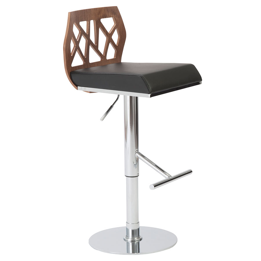 Sophia Modern Adjustable Stool in Walnut
