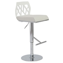 Sophia Adjustable Modern Stool in White