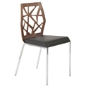 Sophia Modern Walnut Dining Chair