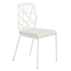 Sophia Modern Dining Chair in White