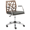 Solara Modern Walnut Office Chair
