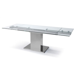 Somerset Modern Glass Extension Dining Table
