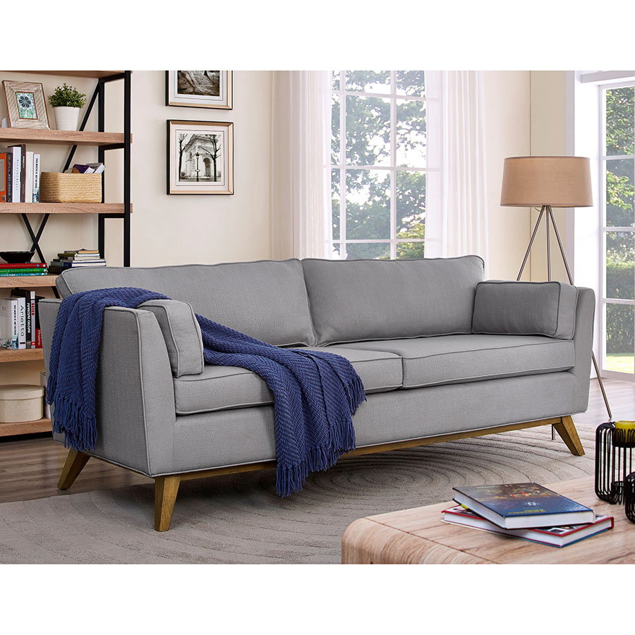 Merveilleux ... Sonora Contemporary Light Gray Sofa