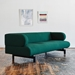 Gus* Modern Soren Sofa in Stockholm Juniper Fabric Upholstery With Black Powder Coated Steel Base - Lifestyle