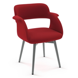 Sorrento Modern Dining Chair by Amisco in Magnetite + Flame