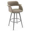 Sorrento Modern Bar Stool by Amisco in Magnetite + Shitake