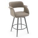 Sorrento Modern Counter Stool by Amisco in Magnetite + Shitake
