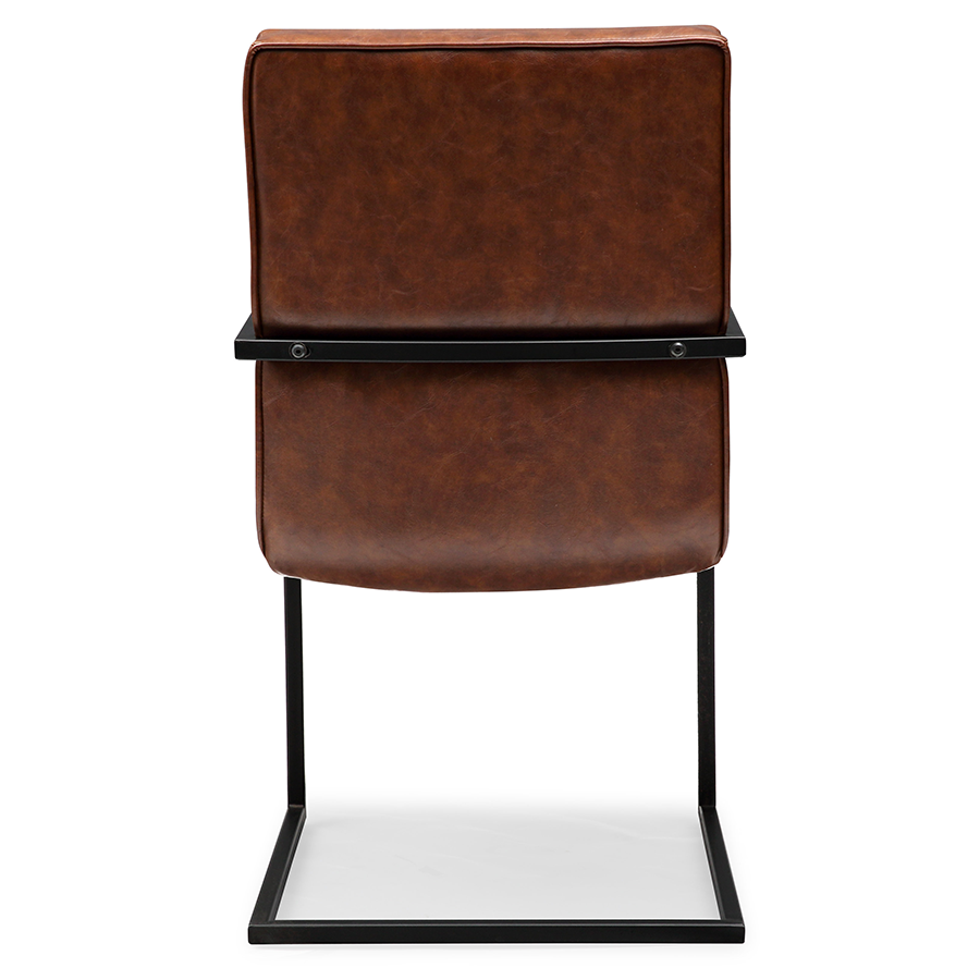 Modern Chairs Spade Brown Arm Chair Eurway