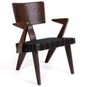 Spanner Contemporary Chair by Gus Modern in Dark Birch with Black