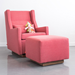 Gus* Modern Sparrow Glider in Berkeley Coral w/ Sparrow Ottoman