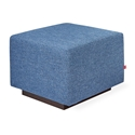 Gus* Modern Sparrow Glider Ottoman in Chelsea Pacific Blue Fabric Upholstery