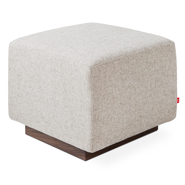 Gus* Modern Sparrow Ottoman in Leaside Driftwood